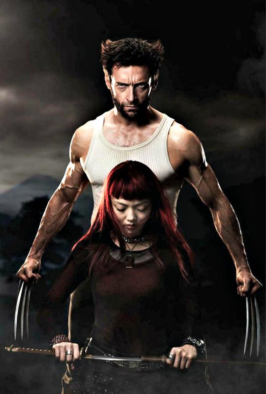 Hugh Jackman and Rila Fukushima
