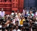 Gujarat Chief Minister Narendra Modi at Jagannath temple in Puri