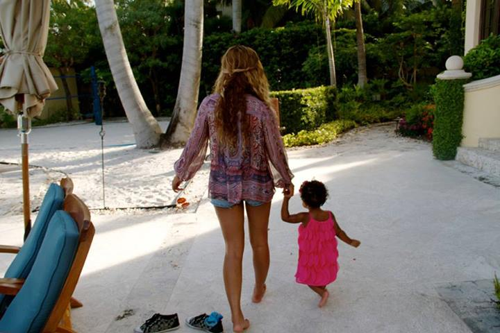 Beyonce in Miami on a holiday with daughter Blue Ivy