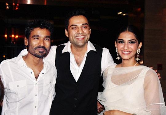Dhanush, Abhay Deol, Sonam Kapoor