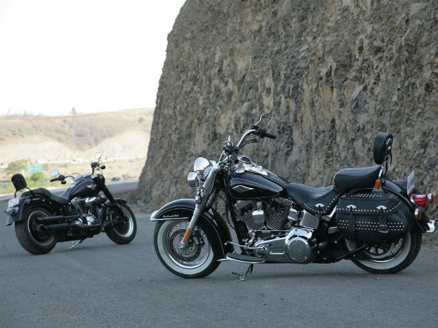 Harley-Davidson Fatboy Special and Softail Heritage