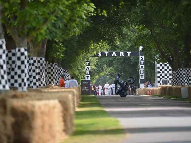 Motorbikes at the Goodwood Festival of Speed 2013