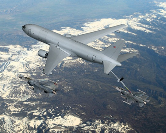 KC-46 tanker with F-16 Fighting Falcon