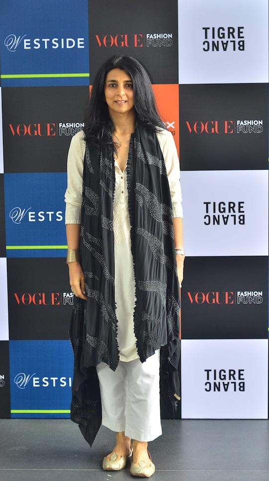 Tina Tahiliani panelist of Vogue Fashion Fund 2013