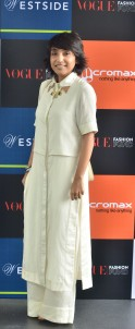 Vogue Fashion Fund semi-finalist Nupur Kanoi at the first round of judging held at the Four Seasons, Mumbai.jpg Vogue Fashion Fund semi-finalist Nupur Kanoi