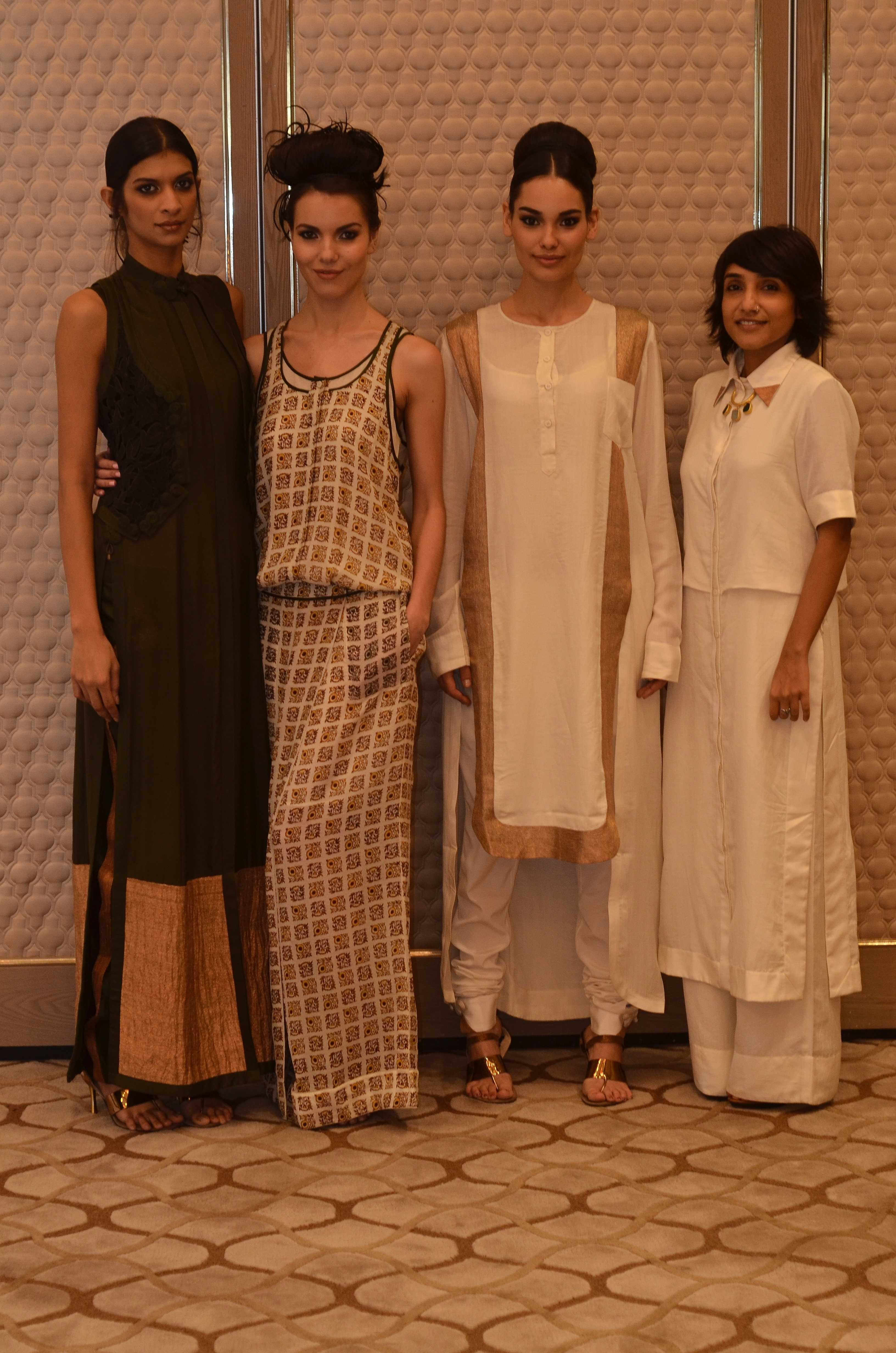 Vogue Fashion Fund semi-finalist Nupur Kanoi with her collection