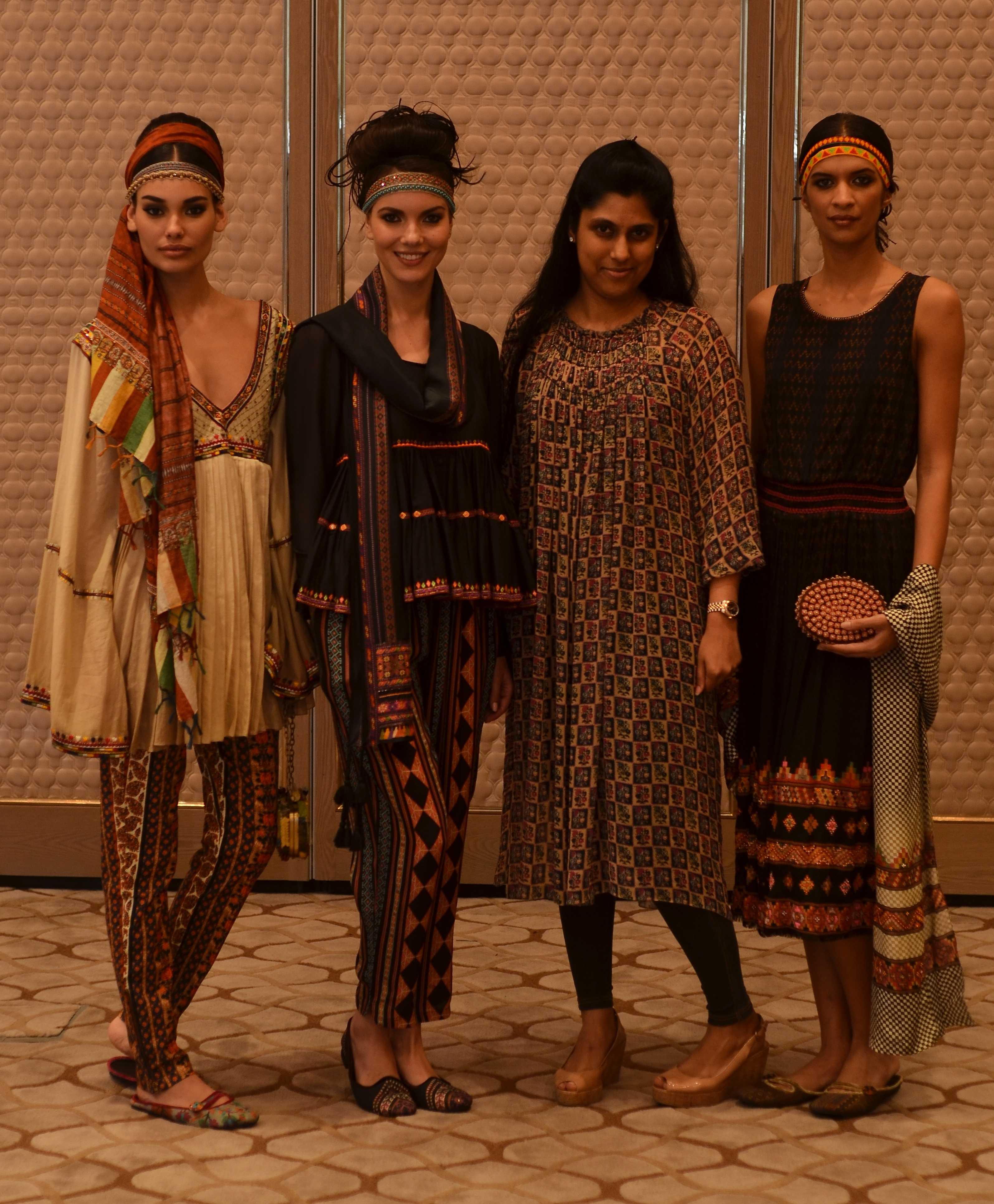 Vogue Fashion Fund semi-finalist Tanvi Kedia with her collection