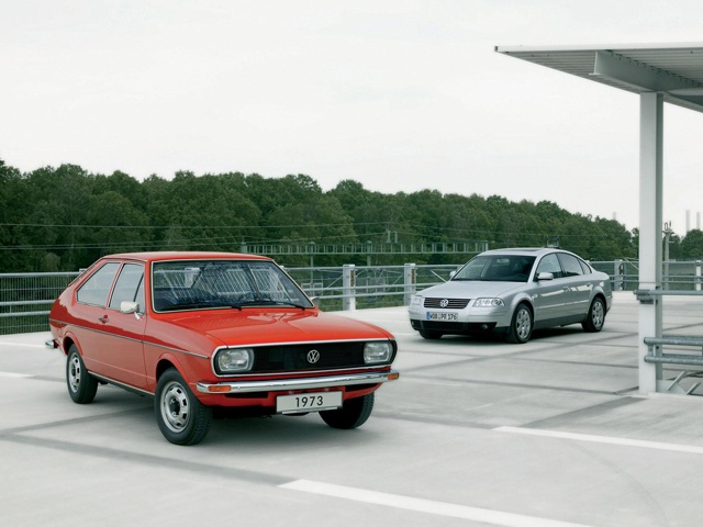 First and fifth generation Volkswagen Passat