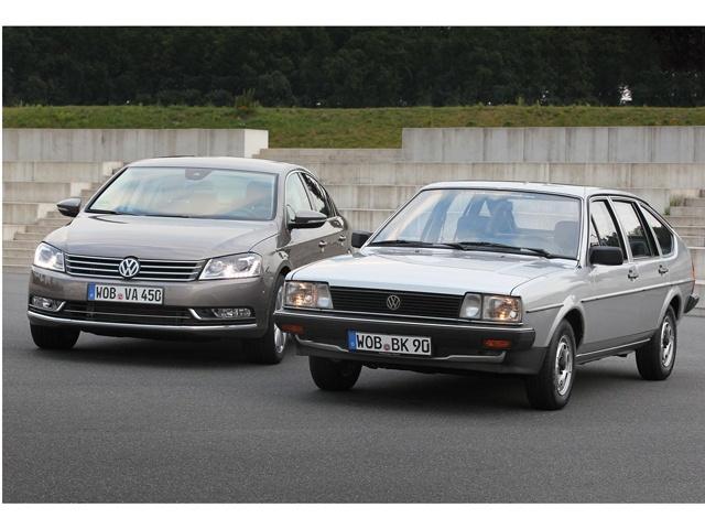 Second and sixth generation Volkswagen Passat