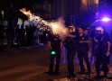 Riot police fire tear gas towards protesters during clashes in Kennedy Street in central Ankara