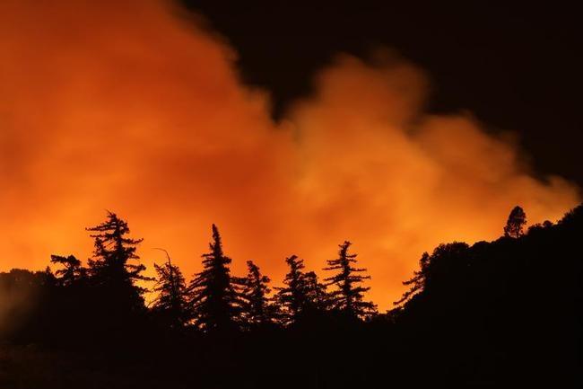 Wild Fire Burns Homes In Lake Hughes, California