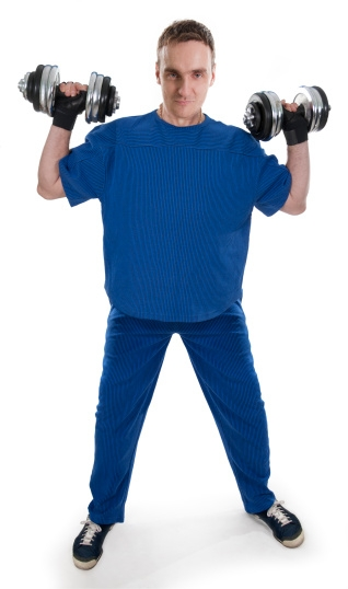 20 Upper Body Workouts for Men Dumbbell Cuban press