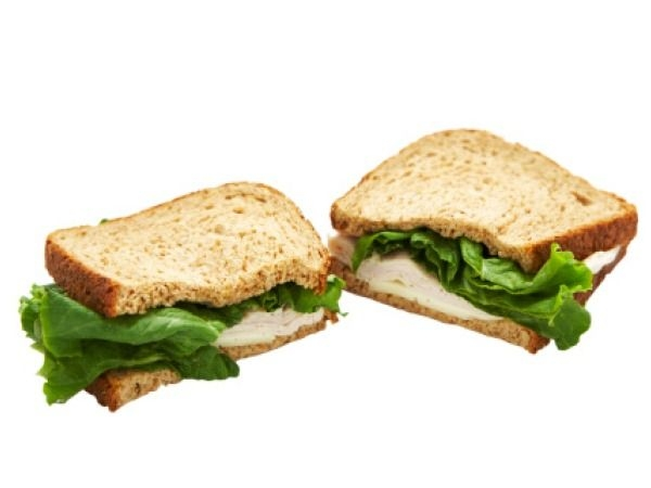Healthy Food: Best Snack Under 100 Calories:Whole wheat sandwich: