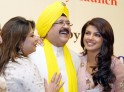 Priyanka with Ashok and Madhu Chopra