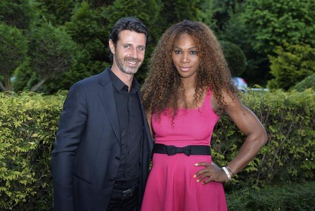Serena Williams and Patrick Moratoglu