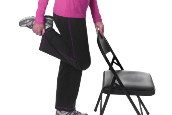 Workouts: 20 Best Home Workouts : Quadricep stretch