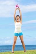 20 Upper Body Workouts for Men Single-arm kettle bell snatch