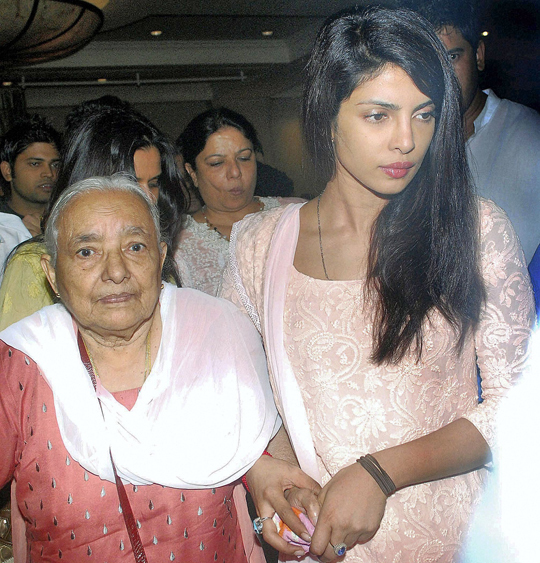 Priyanka Chopra with her grandmother