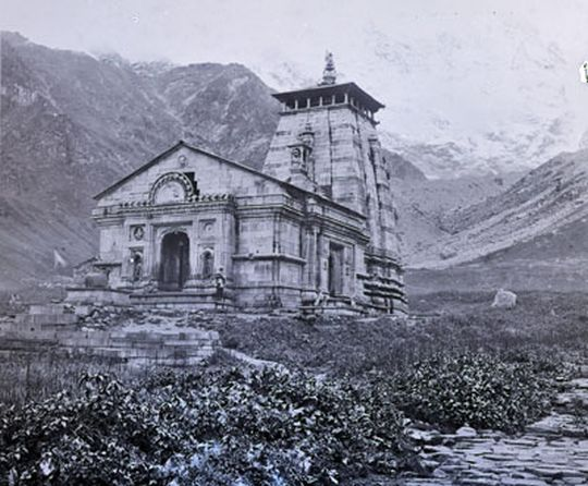 Southside of temple, Kedernath, Garwal, 1882