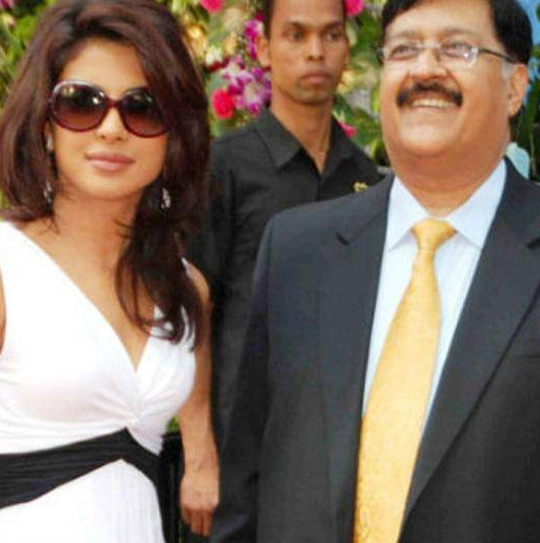 Priyanka Chopra with dad - late Dr. Ashok Chopra