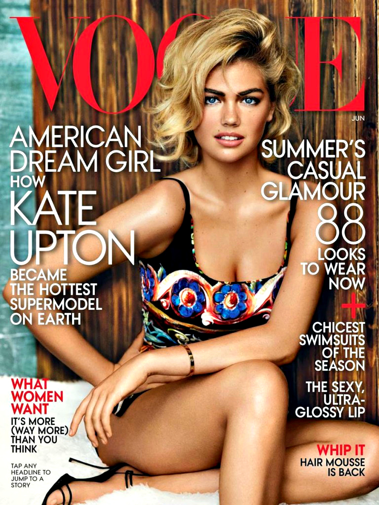 American actress and model Kate Upton