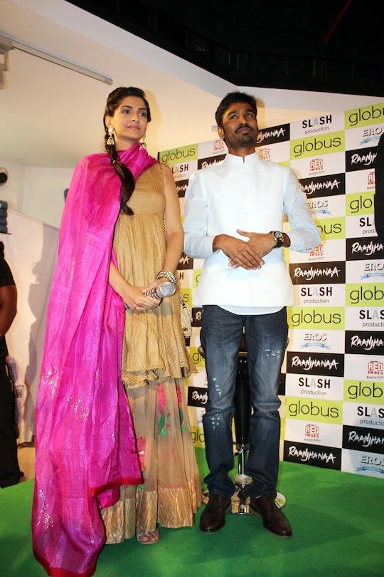 Sonam and Dhanush