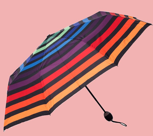 Multi-hued Umbrella