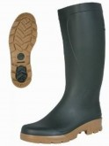 Military green gum boots