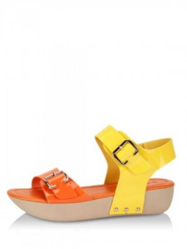 Pop coloured sandals