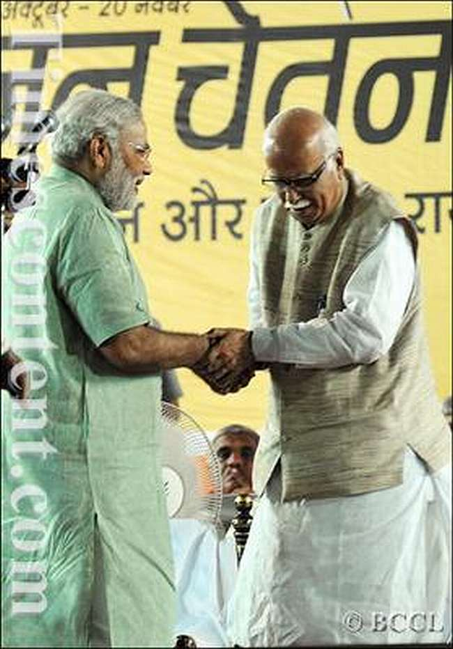 L K Advani and Narendra Modi