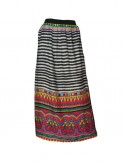 Psychedelic printed maxi skir