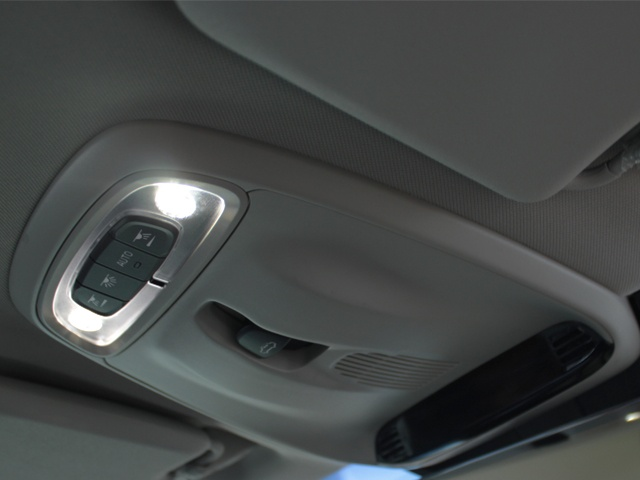 Interior light controls and sun roof controls