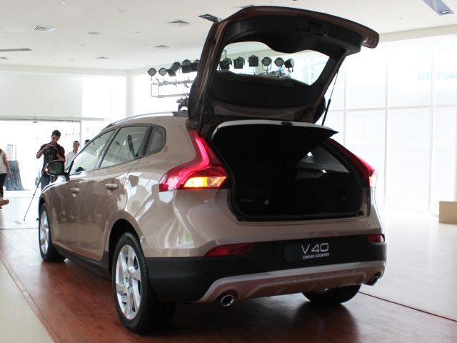 Rear hatch opens to reveal a capacious boot