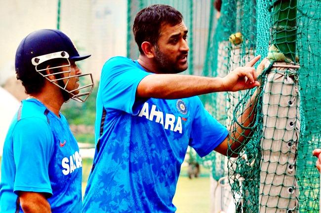 Mahendra Singh Dhoni and Sachin Tendulkar