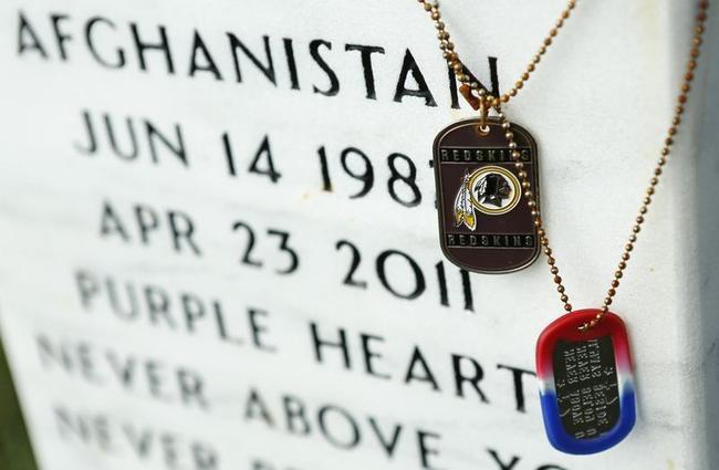 Grave mementos at Arlington National Cemetery in Virginia