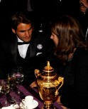 Roger Federer and Mirka