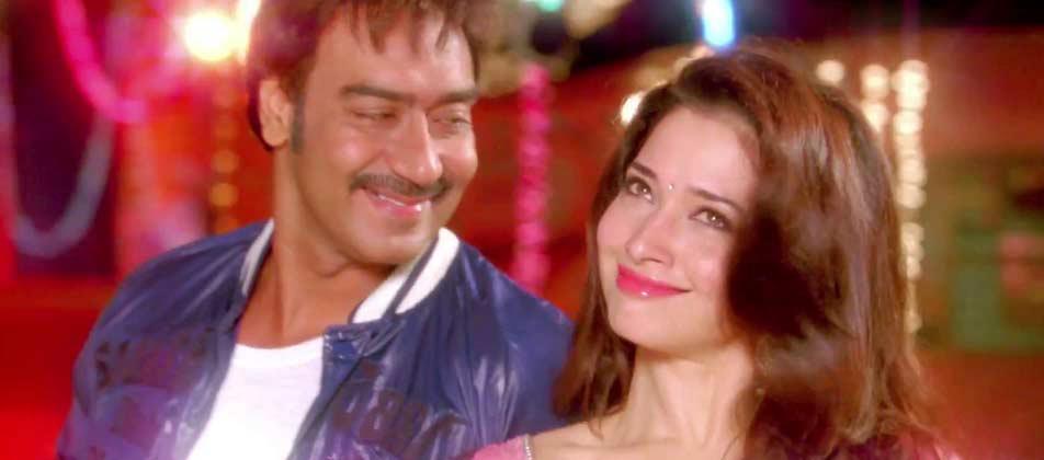 Tamanna and Ajay Devgn