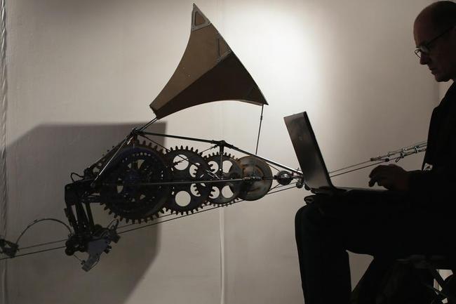 Visitors Enjoy Exhibits At The Kinetica Art Fair