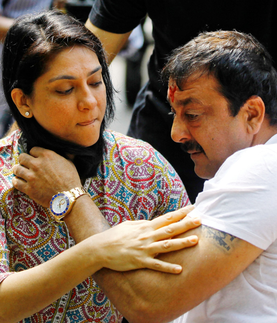 Sanjay Dutt with sister Priya