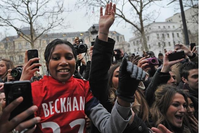 Paris Caught in David Beckham Mania