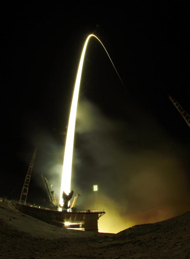 Russian-American Crew Taking Short Cut to Space Station