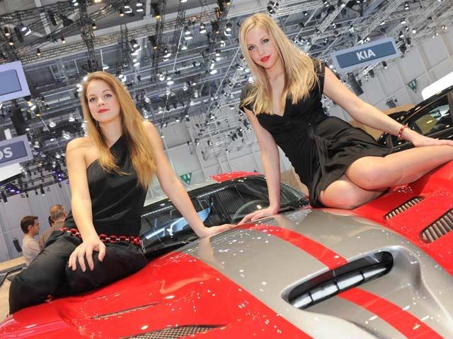 Girls at the 2013 Geneva Motor Show
