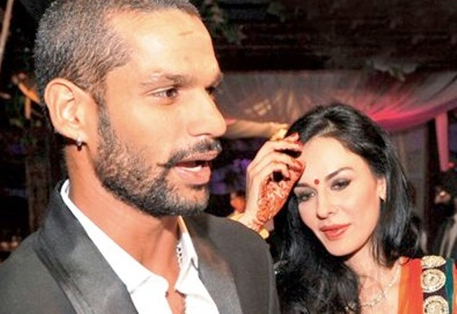 Shikhar Dhawan and Aesha Mukherjee