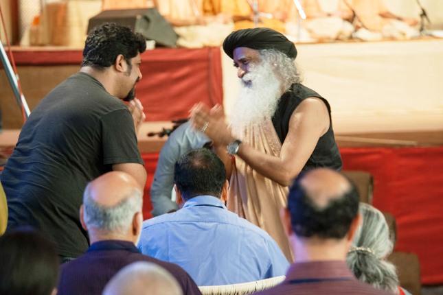 Raghu Dixit with Sadhguru