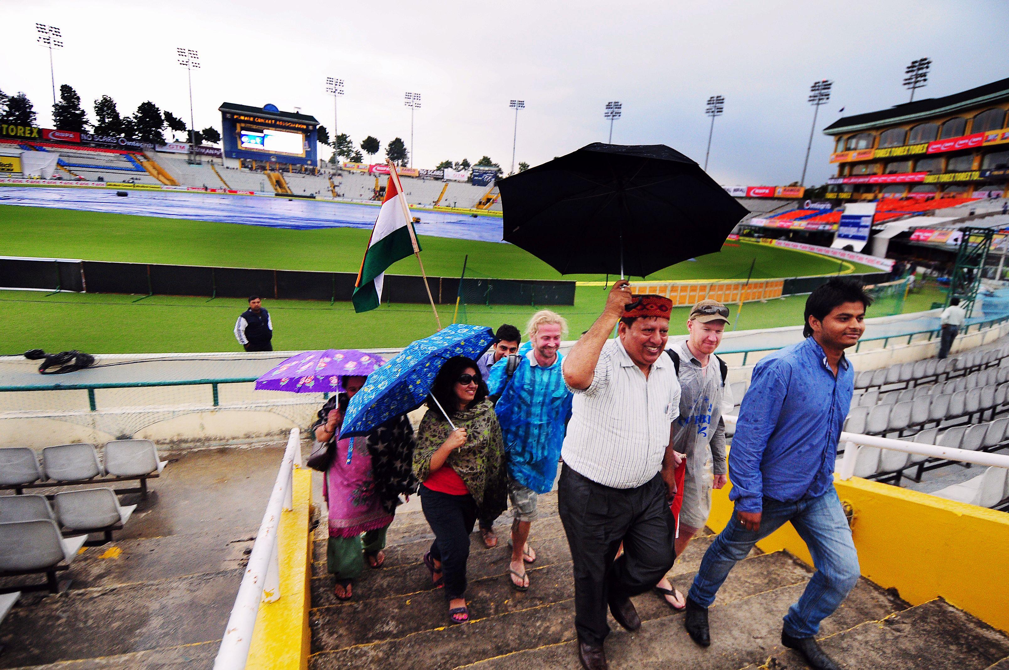 Rain at Mohali