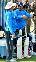 Mahendra Singh Dhoni and Duncan Fletcher