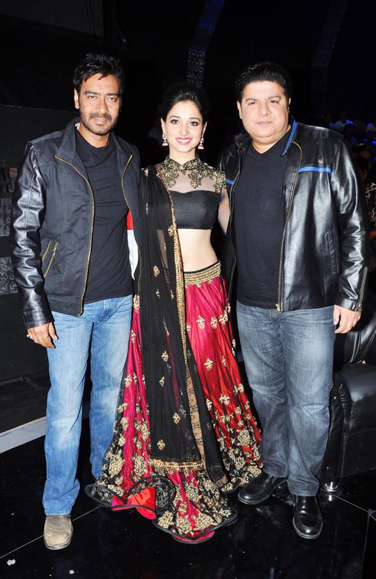 Ajay Devgn, Tamanna and Sajid Khan
