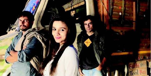 Randeep Hooda, Alia Bhatt and Imtiaz Ali