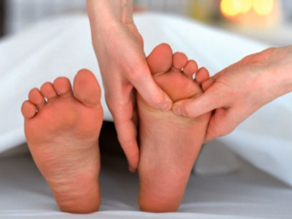 Give a nice foot massage to yourself
