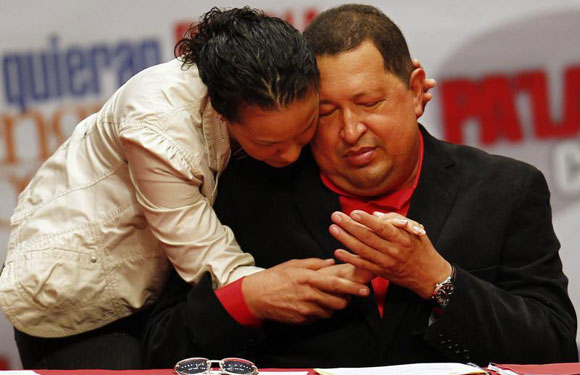 Hugo Chavez and daughter Rosa